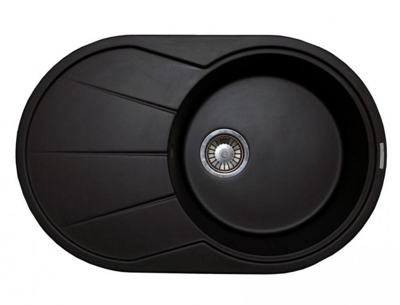 Мойка кухонная Lava E3 чёрный металлик (E3.LAV)