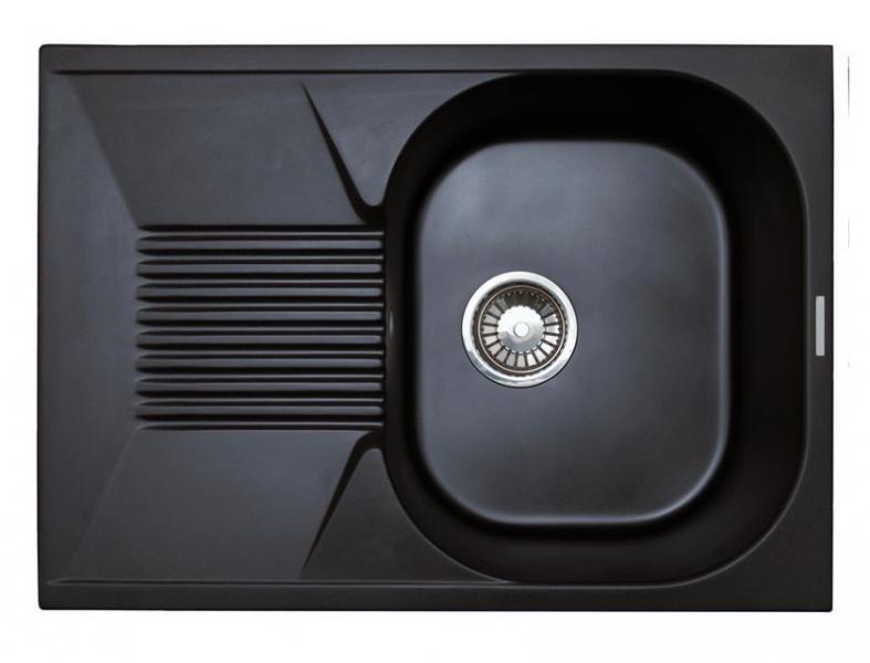 Мойка кухонная Lava L2 чёрный металлик (L2.LAV)