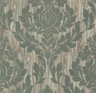 Флоковые обои 1838 Wallcoverings Avington Faversham Sea Foam