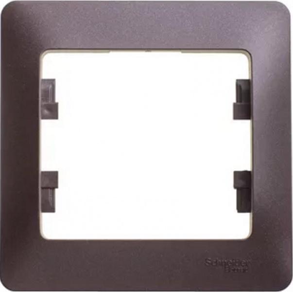 Рамка Schneider Electric Glossa GSL000801 Шоколад (1 пост)
