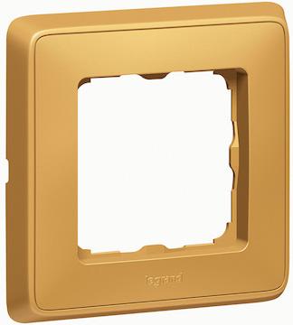 Рамка Legrand Cariva 773661 Матовое золото (1 пост), Cariva 773661 Матовое золото (1 пост)