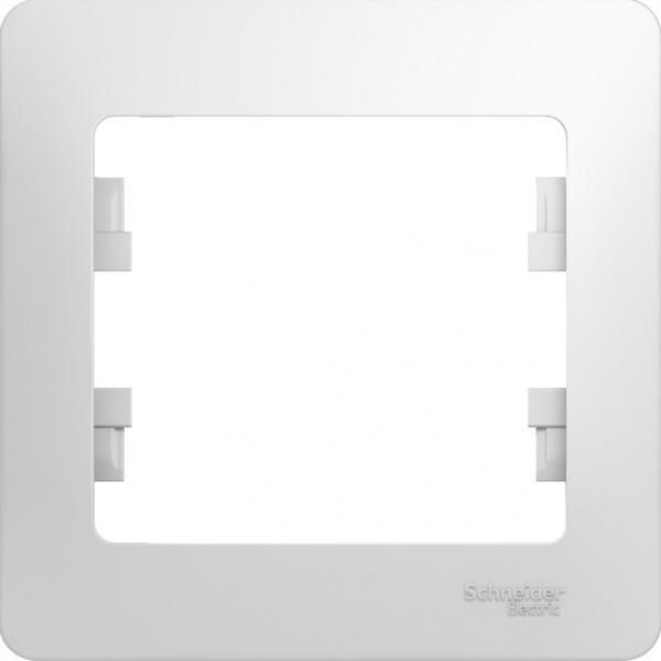 Рамка Schneider Electric Glossa GSL000101 Белый (1 пост)