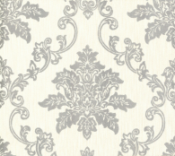 Флизелиновые обои 1838 Wallcoverings Rosemore Hampton Silver