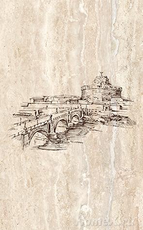 Декор Ceramica Classic Tile Efes Coliseum-1 Iglesia 25x40 бордюр ceramica classic tile efes leone 2 6 3x25