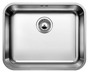 Купить со скидкой Мойка кухонная Blanco Supra 500 U сталь без клапана (518205)
