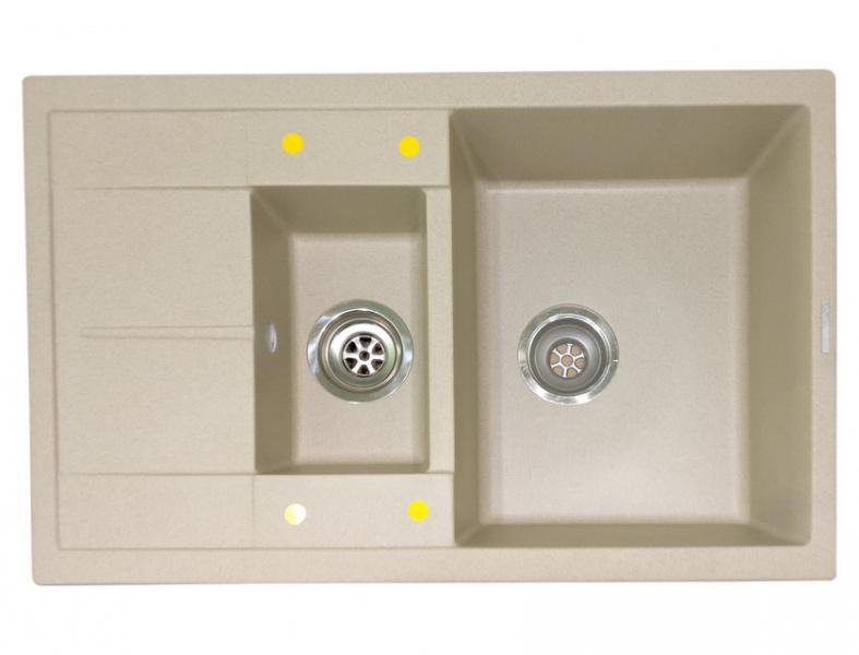 Мойка кухонная Lava D4 светлый беж (D4.DUN)