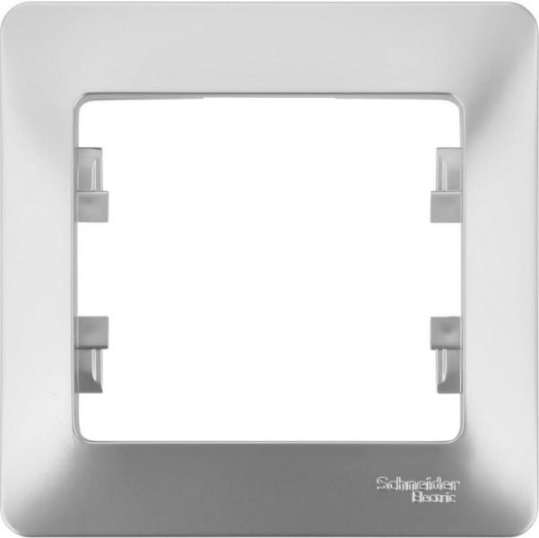Рамка Schneider Electric Glossa GSL000301 Алюминий (1 пост)