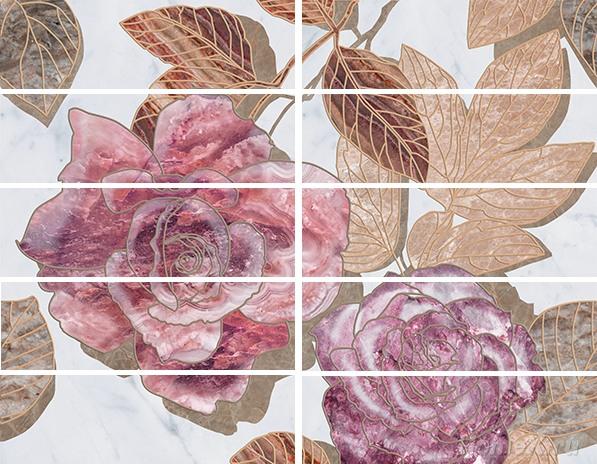 Бордюр Ceramica Classic Tile Argos Flowers 7,5x25 бордюр keros ceramica varna cen roses 5х50