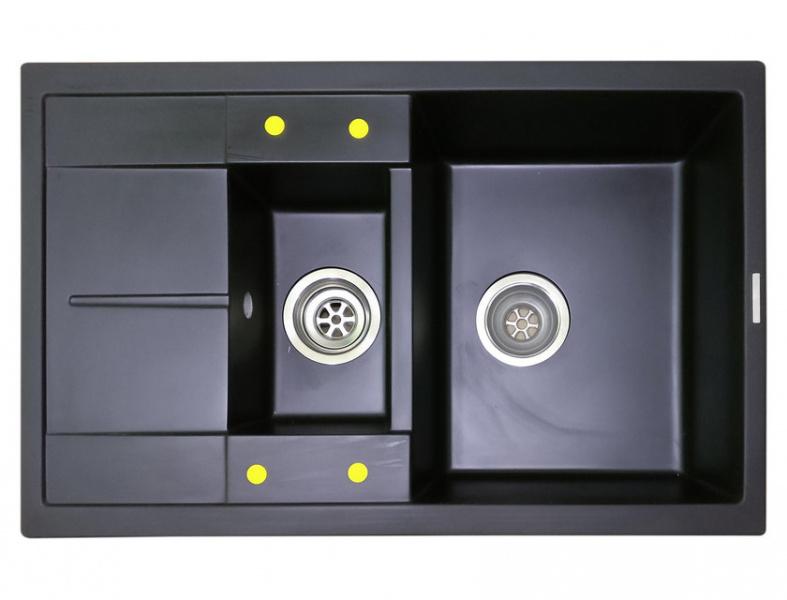 Мойка кухонная Lava D4 чёрный металлик (D4.LAV)