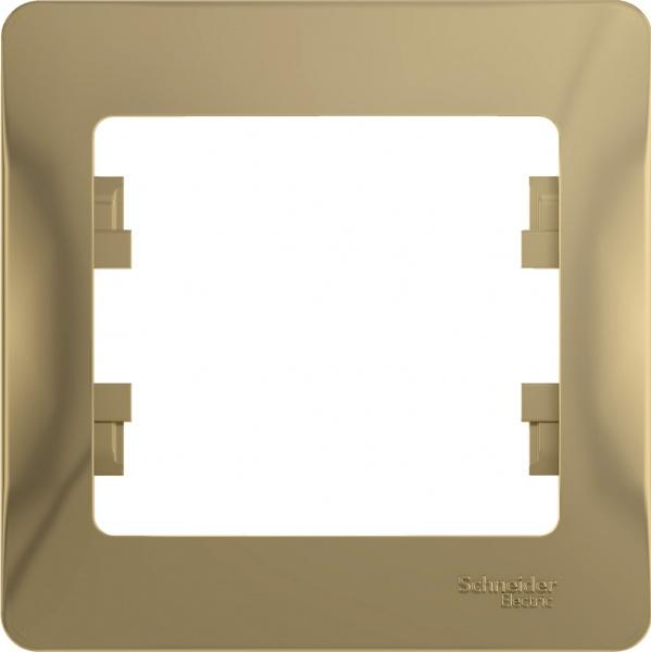 Рамка Schneider Electric Glossa GSL000401 Титан (1 пост)