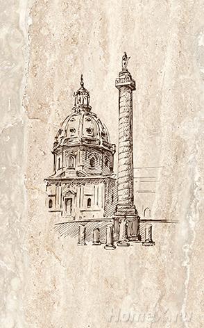 Декор Ceramica Classic Tile Efes Coliseum-2 Columna 25x40 бордюр ceramica classic tile efes leone 2 6 3x25