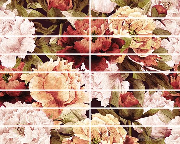 Бордюр Ceramica Classic Tile Peony 4x25 бордюр mapisa lisa bordura white 4x25 3