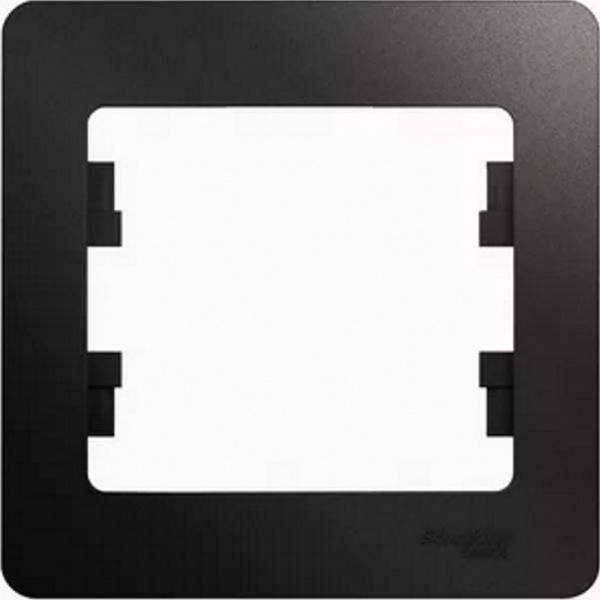 Рамка Schneider Electric Glossa GSL000701 Антрацит (1 пост)