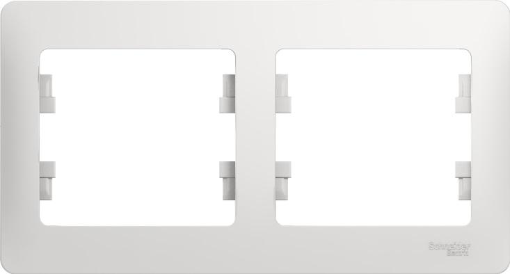 Рамка Schneider Electric Glossa GSL000102 Белый (2 поста)