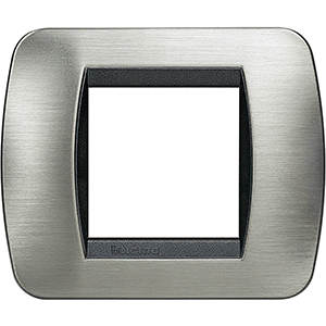 Рамка Bticino LivingLight L4802ACS Тёртая Сталь (1 пост)