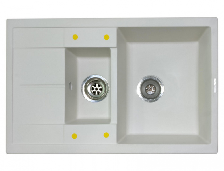 Мойка кухонная Lava D4 белый (D4.LAT)