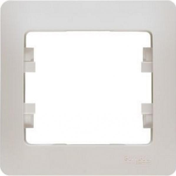 Рамка Schneider Electric Glossa GSL000901 Молочный (1 пост)