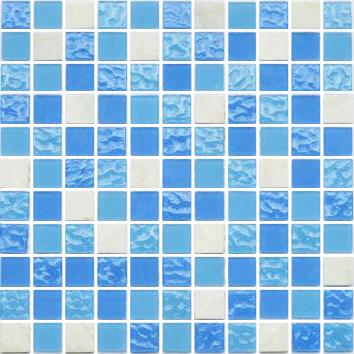 Глянцевая трехцветная мозаика для кухни